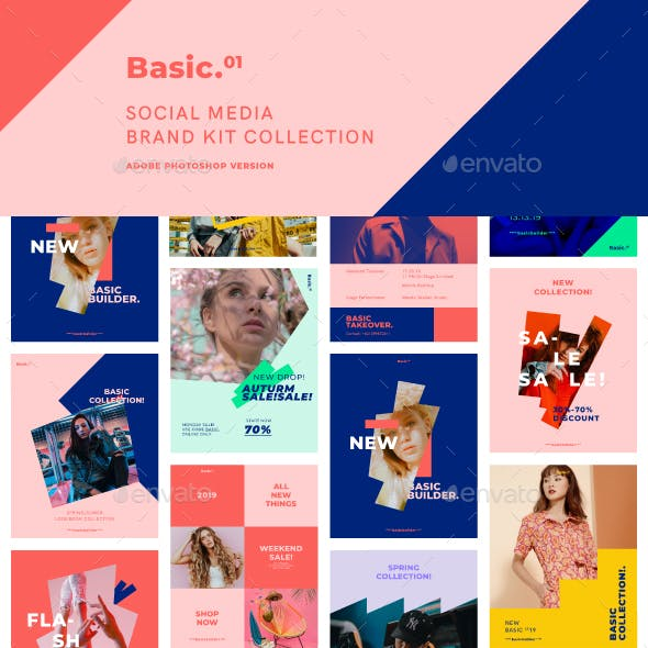 Social Media Kit Graphics Designs Templates From Graphicriver