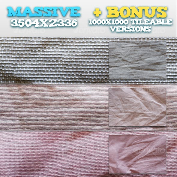 6 Wrinkled Fabrics + BONUS Tileable Versions