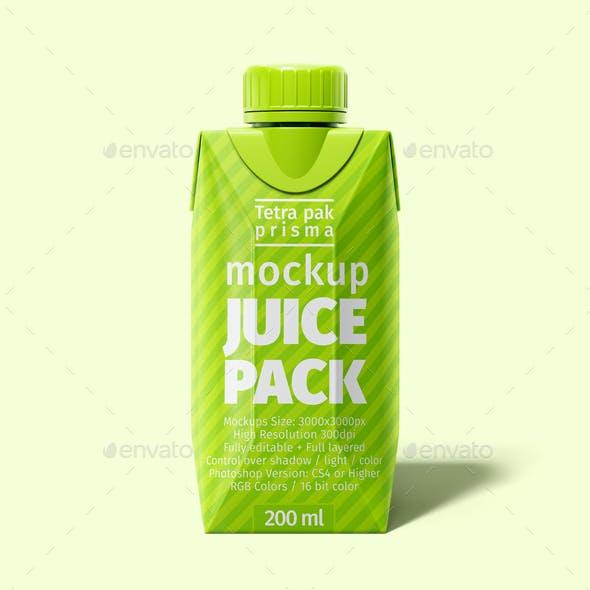 Tetra Pak. Prisma Pack (200 ml) Mockup