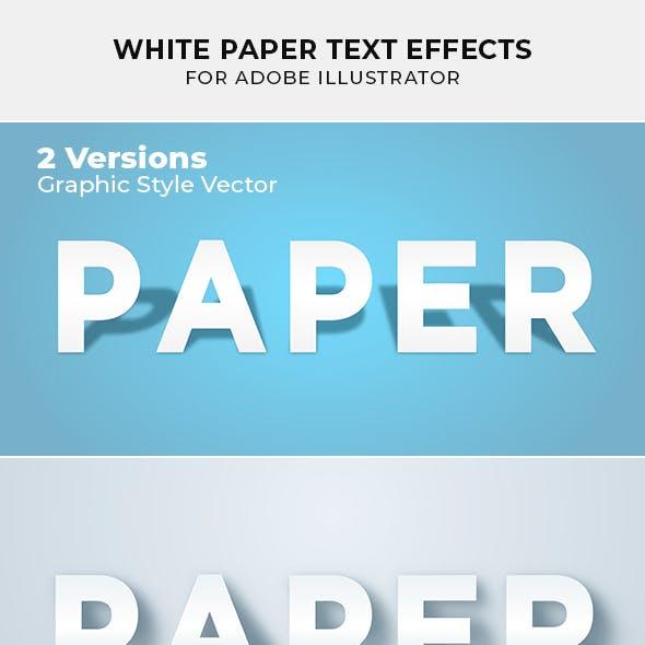 White Paper Text Effect for Illustrator