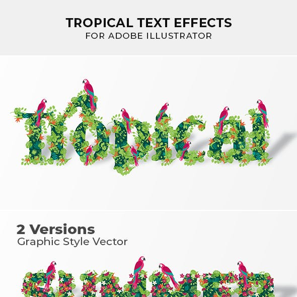 Tropical Text Effect for Illustrator