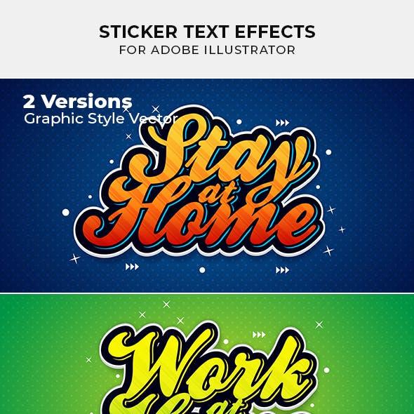 Sticker Text Effect for Illustrator