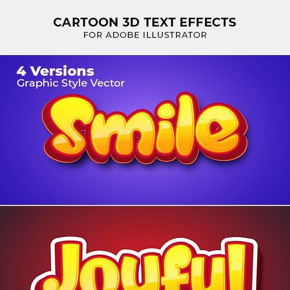 Cartoon 3d Text Effect for Illustrator