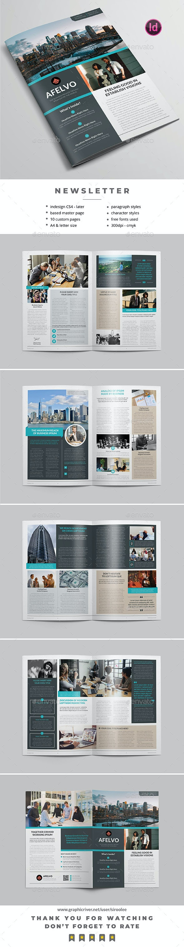 Multipurpose Newsletter v.12 - Newsletters Print Templates