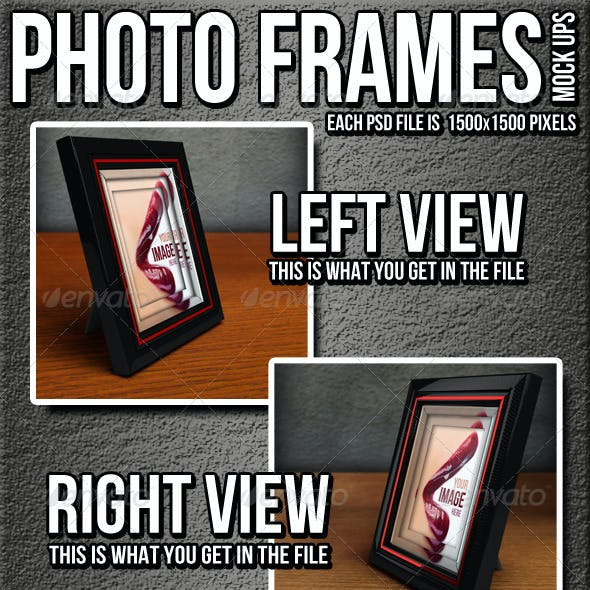 Photo Frames Mock Up