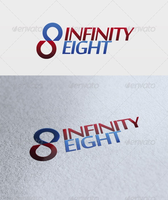 Infinity Eight Logo - Numbers Logo Templates