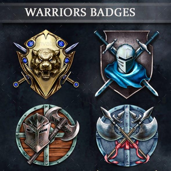 Warriors Badges