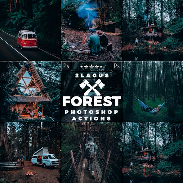 Forest Moody-Travel Effects  Photoshop Actions