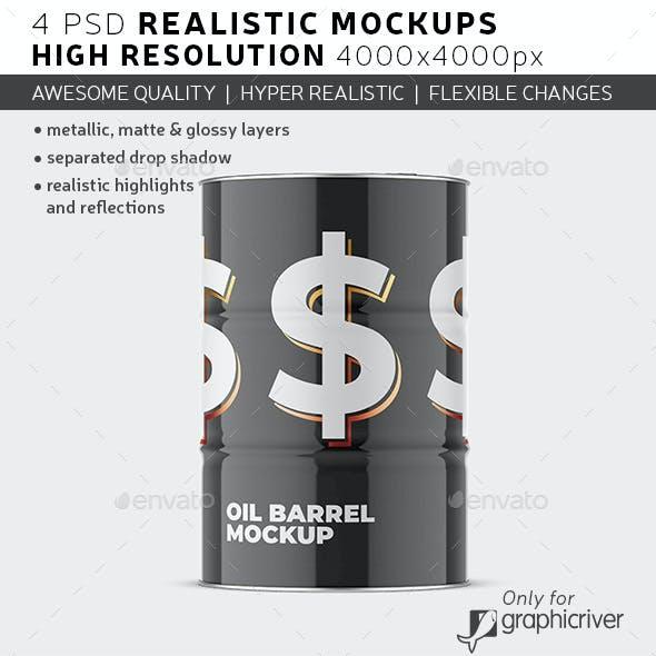 Oil Barrel Mockup