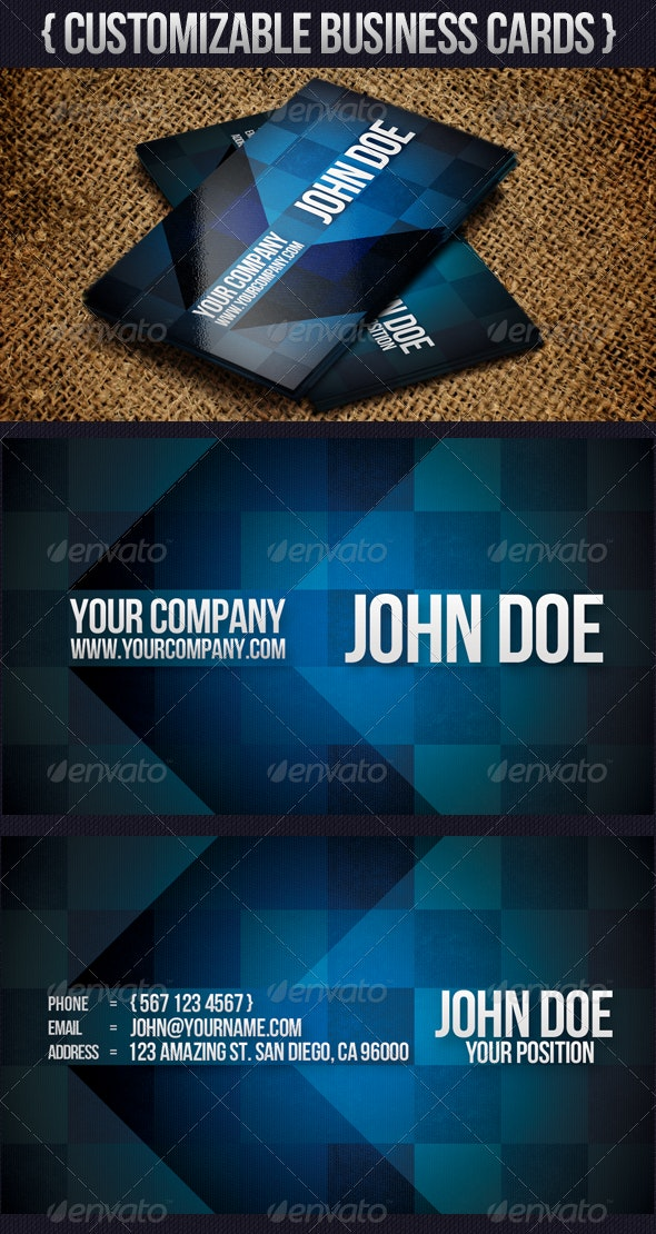 Modern Arrow Business Card - Business Cards Print Templates