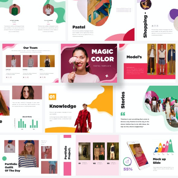 Colorful A4 Modern Minimal Powerpoint