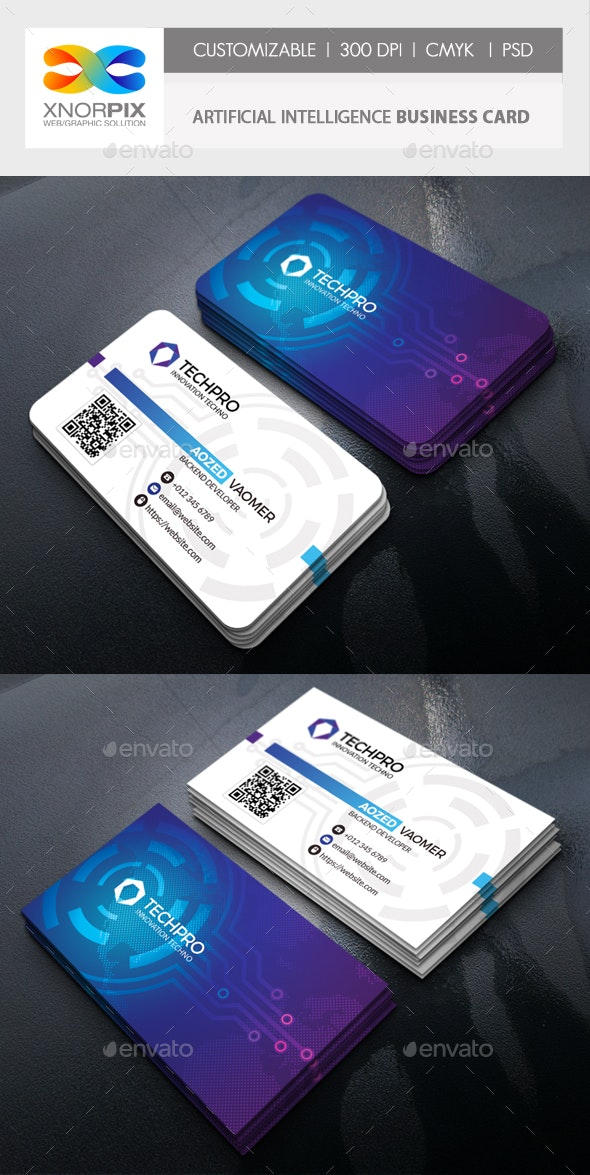 Artificial Intelligence Business Card - Industry Specific Business Cards