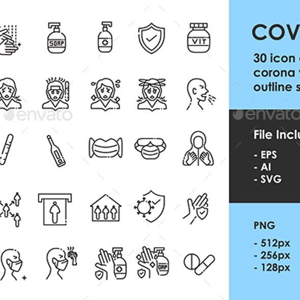 Covid 19 Outline Icon