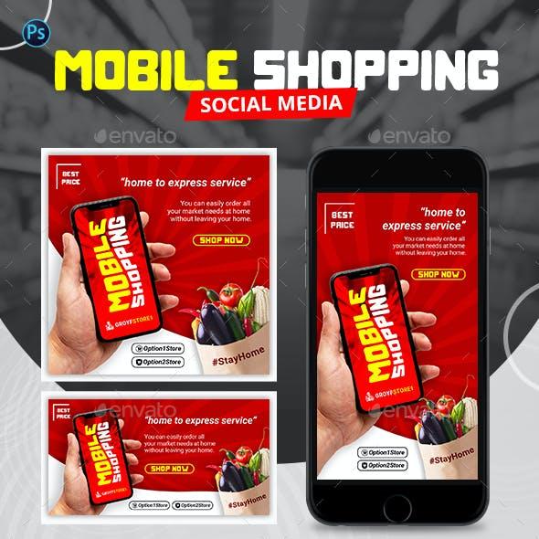 Mobile Shopping Social Media Pack