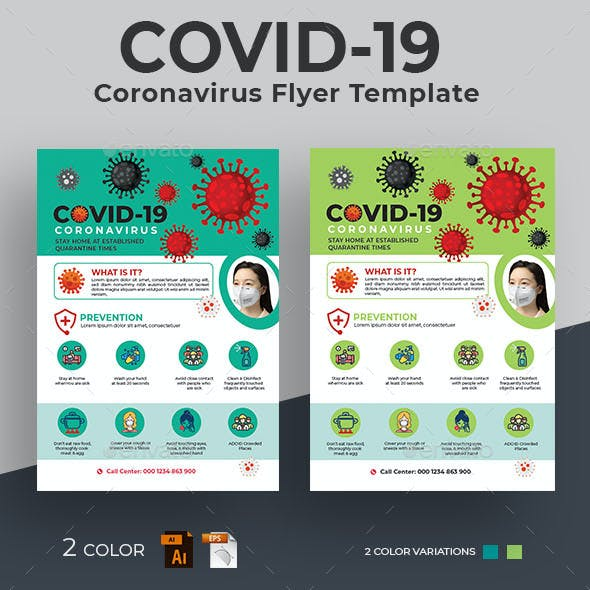 Covid-19 Coronavirus Flyer Template