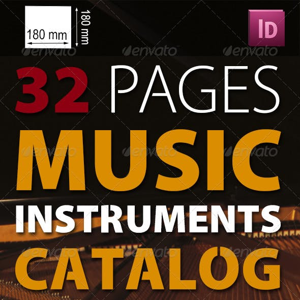 32 Pages Musical Instruments Catalog