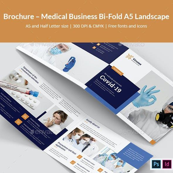 Brochure – Medical Business Bi-Fold A5 Landscape