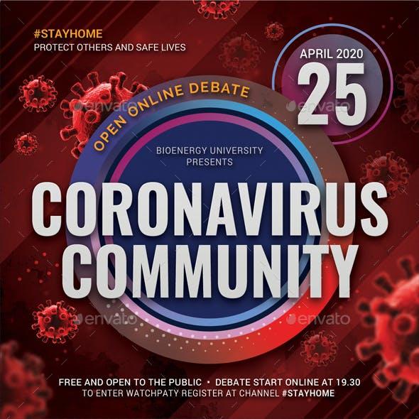 Coronavirus Covid-19 Community Flyer