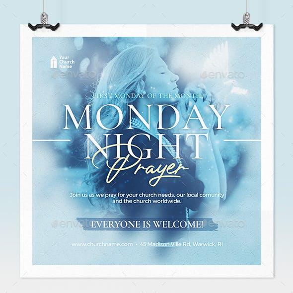Monday Night Prayer Church Flyer