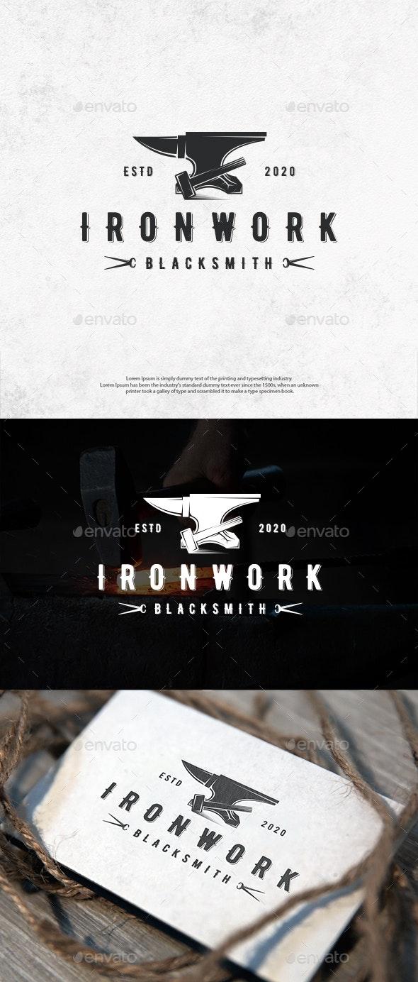 Ironwork Emblem Logo Template - Crests Logo Templates