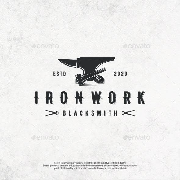 Ironwork Emblem Logo Template