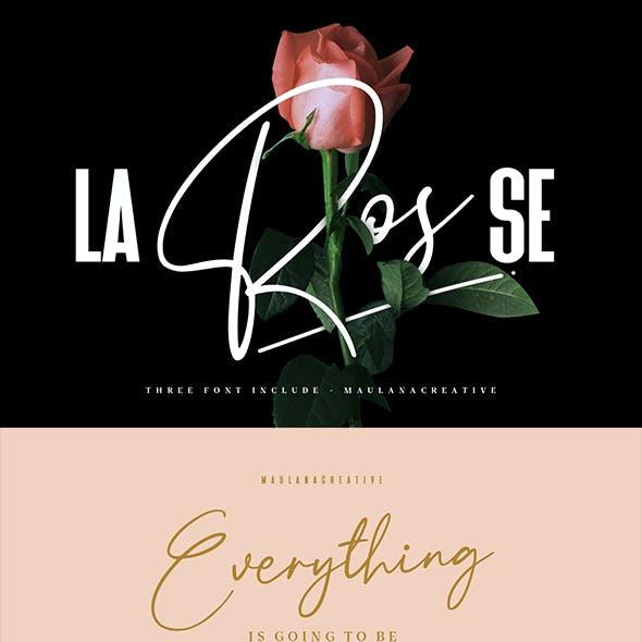 La Rosse Three Font Include