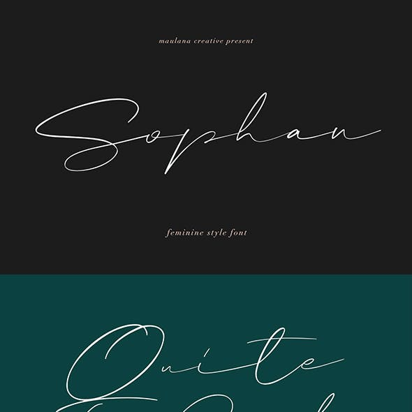 Sophan Calligraphy Font