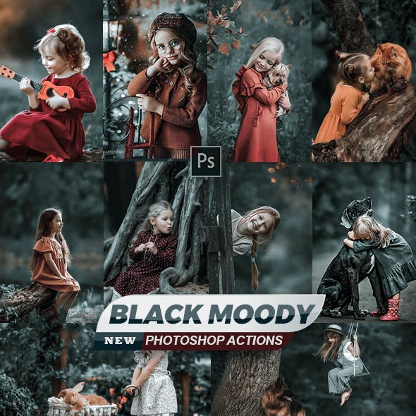 Black Moody Life Styles Actions