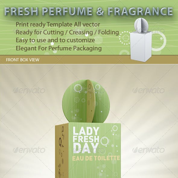 Fresh Perfume and Fragrance Package Template