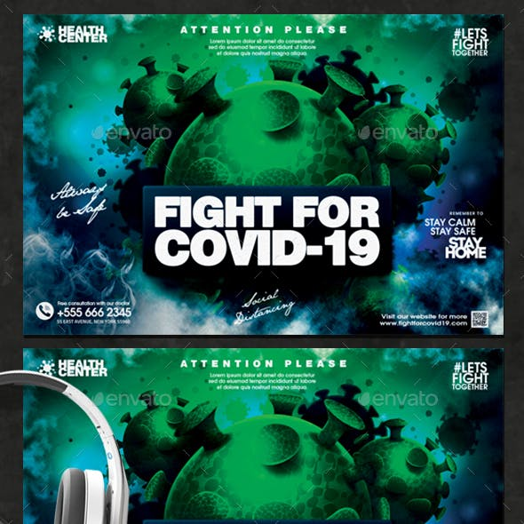 Fight For Covid19 Flyer