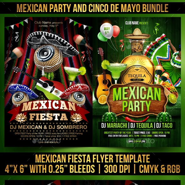 Mexican Party and Cinco de Mayo Bundle
