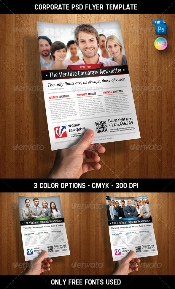 Corporate PSD Flyer Template - Corporate Flyers