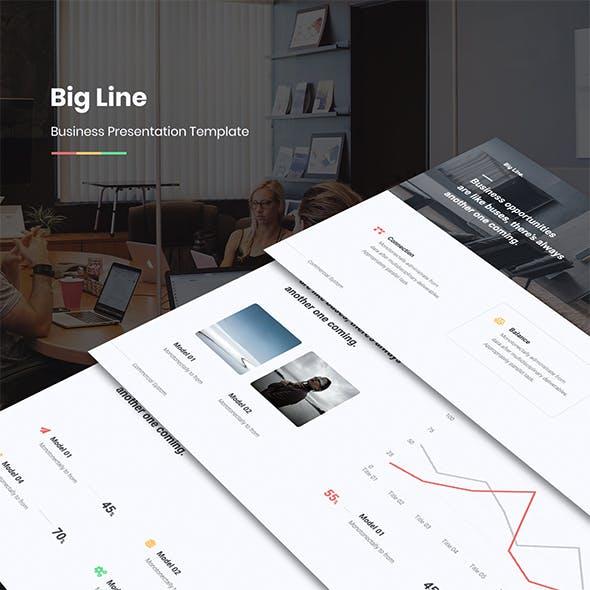 Big Line Business Template (PPTX)