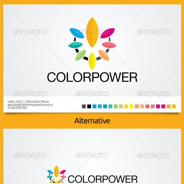 Color Power Logo Template