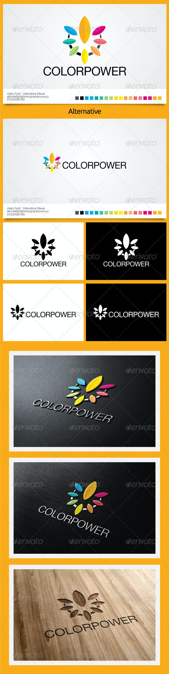 Color Power Logo Template - Symbols Logo Templates
