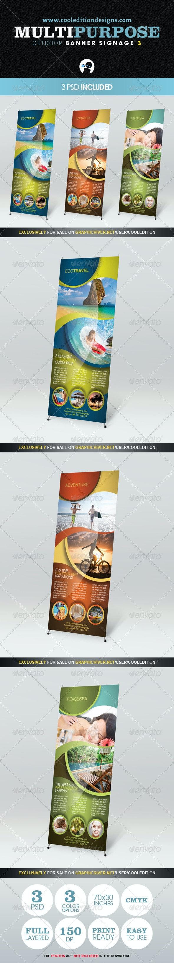 Multipurpose Outdoor Banner Signage 3 - Signage Print Templates