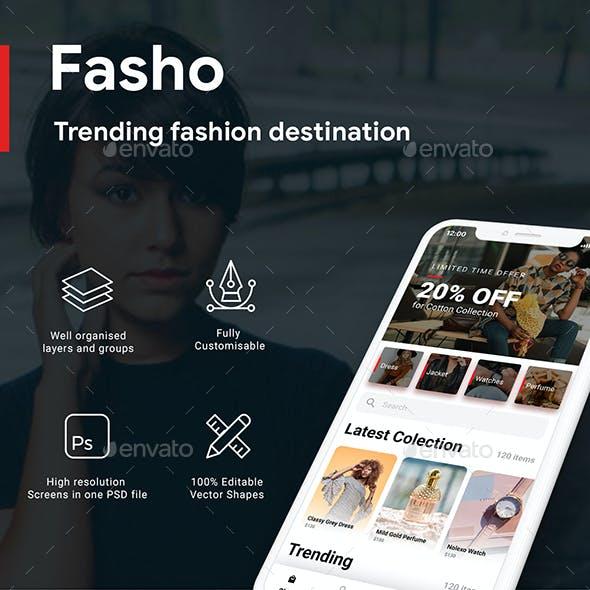 Fashion Ecommerce App UI kit   FASHO