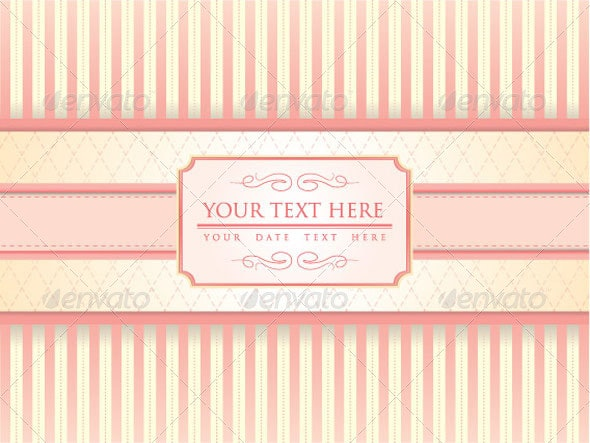 Chic Invitation Template - Decorative Vectors