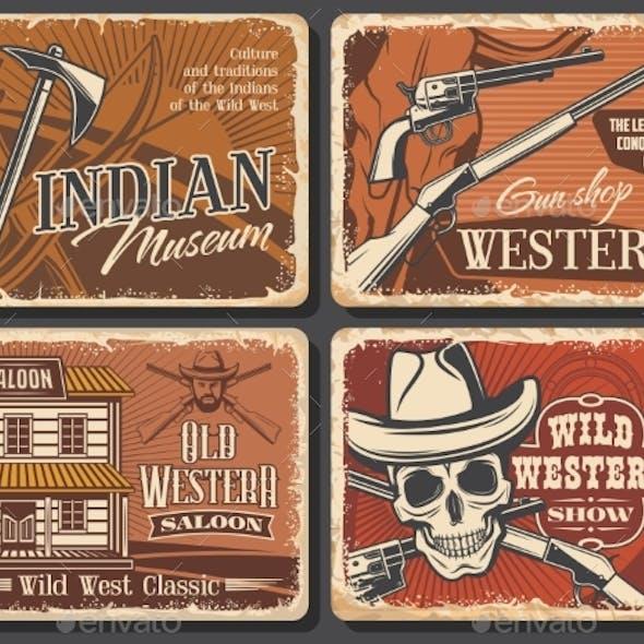 American Wild West Vintage Posters