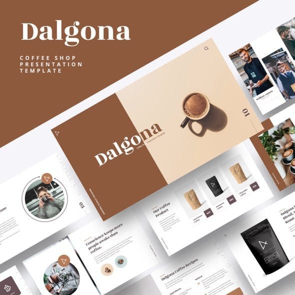 DALGONA - Coffee Shop & Cafe Powerpoint Template