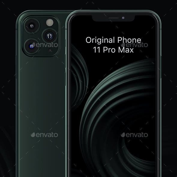 Phone 11 Pro Max phone Mockup for app presentation