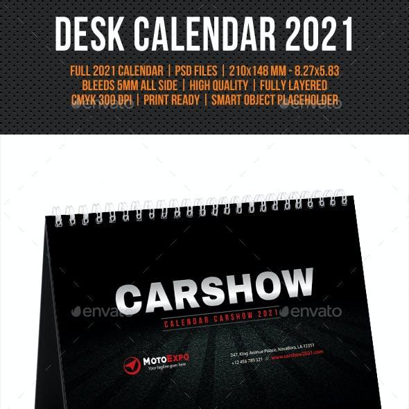 Auto Show Desk Calendar 2021
