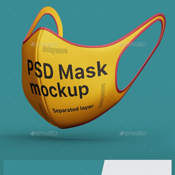 Face medical Mask Protection PSD mockup