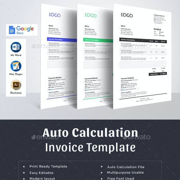 Invoice Template Word Pages