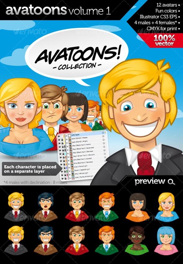 Avatoons vol.1 - Characters Vectors