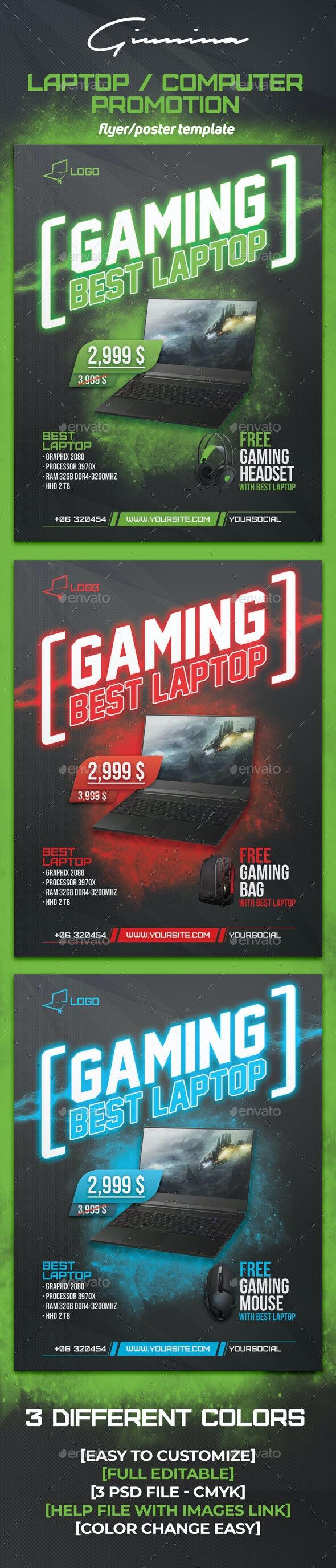 Laptop / Computer Promotion Flyer/Poster - Commerce Flyers