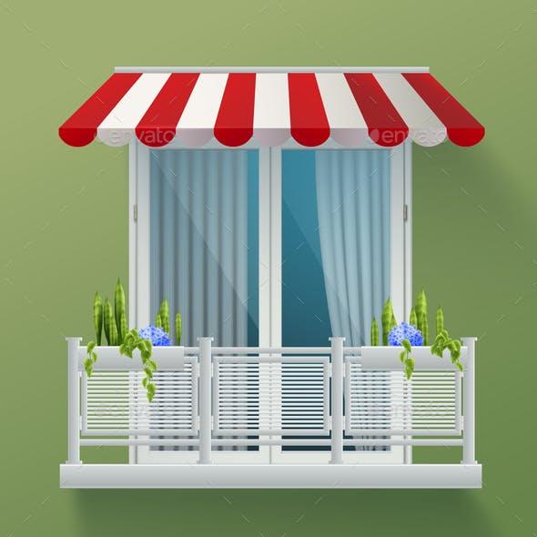 Balcony Fence Realistic Background