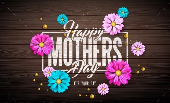 Awesome Happy Mothers Day Greeting Card Design By Articular Graphicriver Birthday Cards Printable Opercafe Filternl