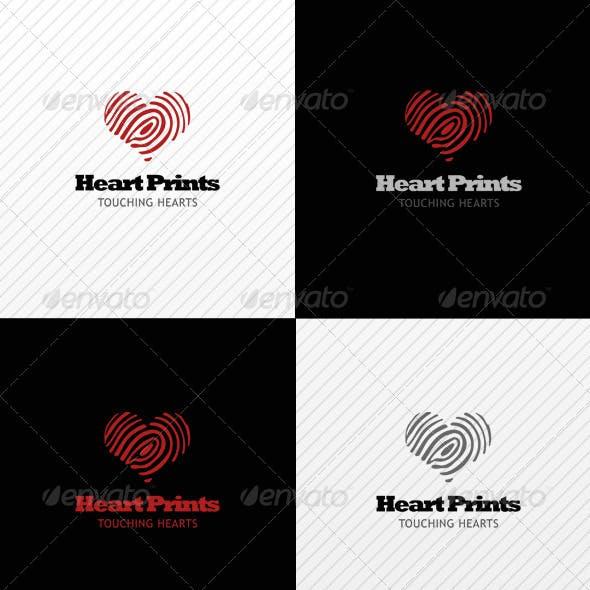 Heart Prints Logo Template