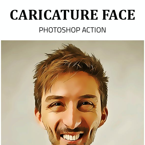 Caricature Face Photoshop Action